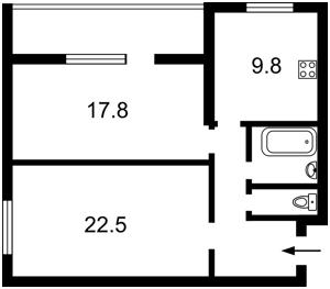 Квартира Липкивского Василия (Урицкого), 37а, Киев, Z-59846 - Фото2