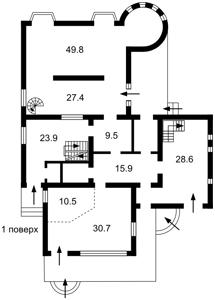 Дом Лесная, Княжичи (Броварской), P-23446 - Фото 3