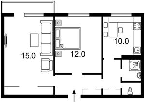 Квартира Оболонский просп., 22б, Киев, F-39561 - Фото2