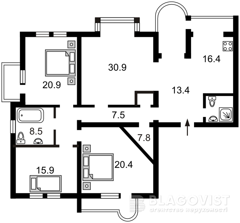 Квартира C-91378, Отдыха, 10, Киев - Фото 4