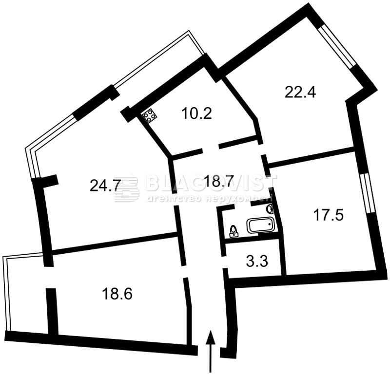 Квартира P-23549, Тютюнника Василия (Барбюса Анри), 53, Киев - Фото 5