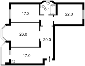 Квартира Ахматовой, 35, Киев, Z-682209 - Фото2