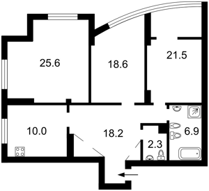 Квартира Героїв Сталінграду просп., 4а, Київ, D-33729 - Фото2