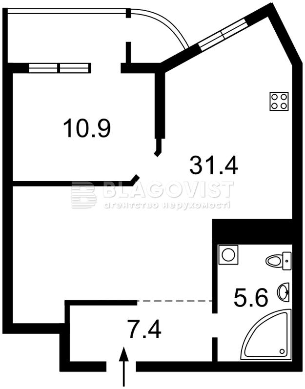 Квартира F-39667, Механизаторов, 2а, Киев - Фото 3