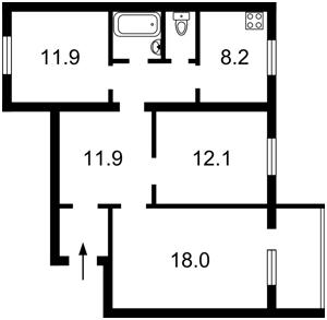 Квартира Радунська, 46б, Київ, Z-1450694 - Фото2
