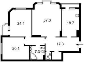Квартира Коновальца Евгения (Щорса), 32б, Киев, R-15890 - Фото2