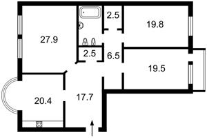 Квартира Черновола Вячеслава, 25, Киев, R-16485 - Фото2
