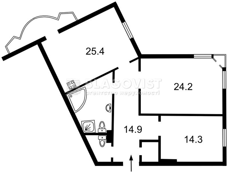 Квартира A-101290, Липкивского Василия (Урицкого), 18в, Киев - Фото 2