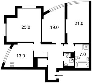 Квартира Героев Сталинграда просп., 2г корпус 1, Киев, Z-677073 - Фото2