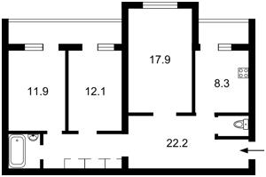 Квартира Героев Сталинграда просп., 20а, Киев, Z-218955 - Фото2