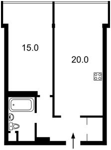 Квартира Донца Михаила, 2а, Киев, Z-292952 - Фото2