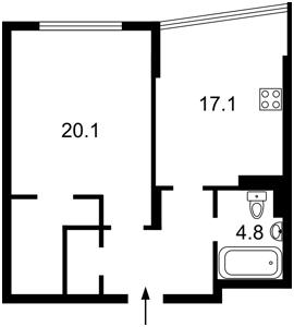 Квартира Сікорського Ігоря (Танкова), 4д, Київ, F-39794 - Фото 2