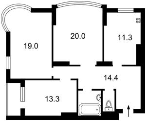Квартира Депутатская, 23а, Киев, X-12499 - Фото2