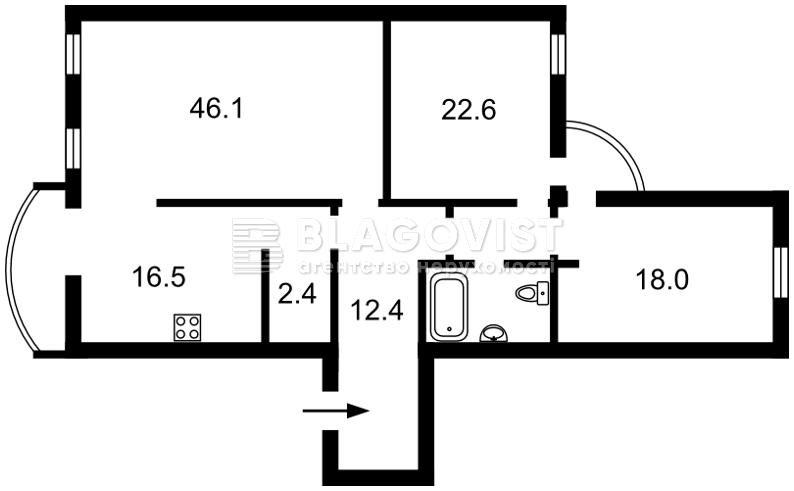Квартира R-15558, Павловская, 26/41, Киев - Фото 5