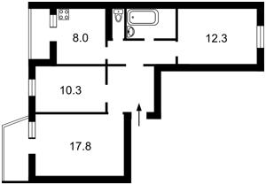 Квартира Ревуцького, 17б, Київ, F-39847 - Фото2