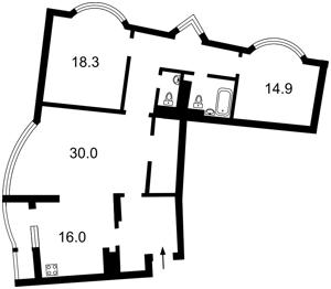 Квартира Днепровская наб., 19, Киев, R-9783 - Фото2