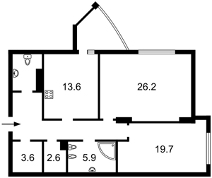 Квартира Глибочицька, 32б, Київ, Z-1799612 - Фото2