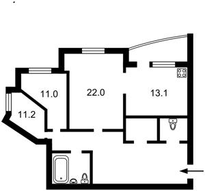 Квартира Срибнокильская, 1, Киев, Z-322282 - Фото2