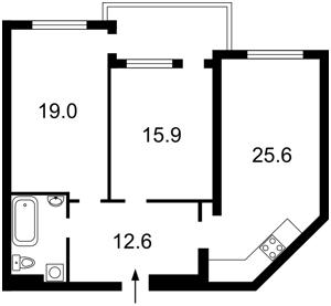 Квартира Голосіївський проспект (40-річчя Жовтня просп.), 58, Київ, Z-260650 - Фото2