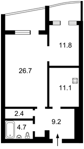 Квартира Коновальця Євгена (Щорса), 36в, Київ, P-23835 - Фото2