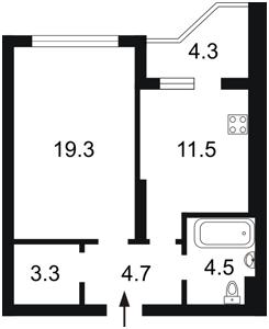 Квартира Бажана Николая просп., 8б, Киев, X-36066 - Фото2