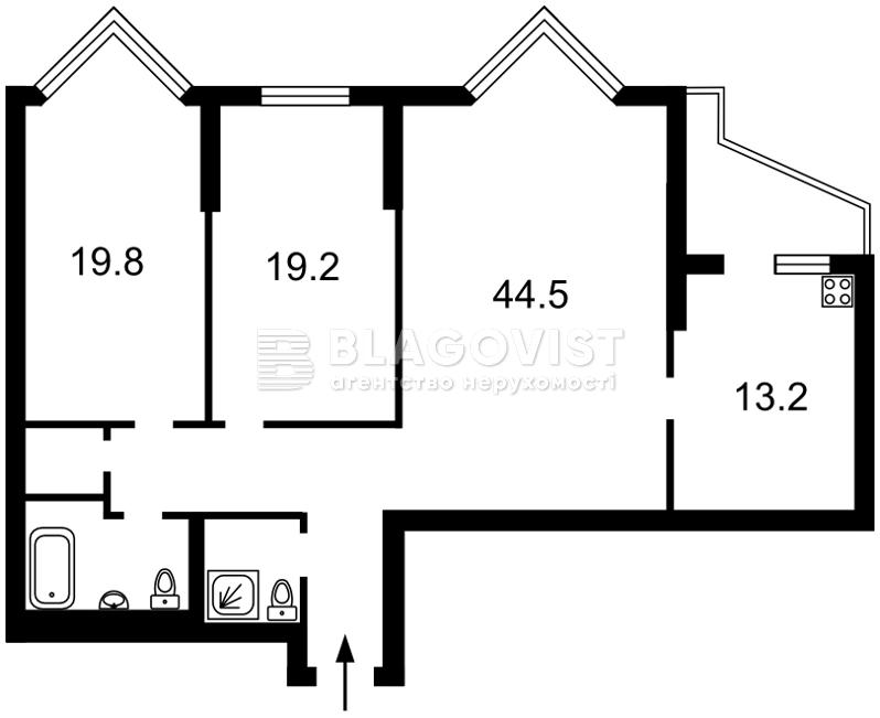 Квартира H-42048, Коновальца Евгения (Щорса), 32г, Киев - Фото 6