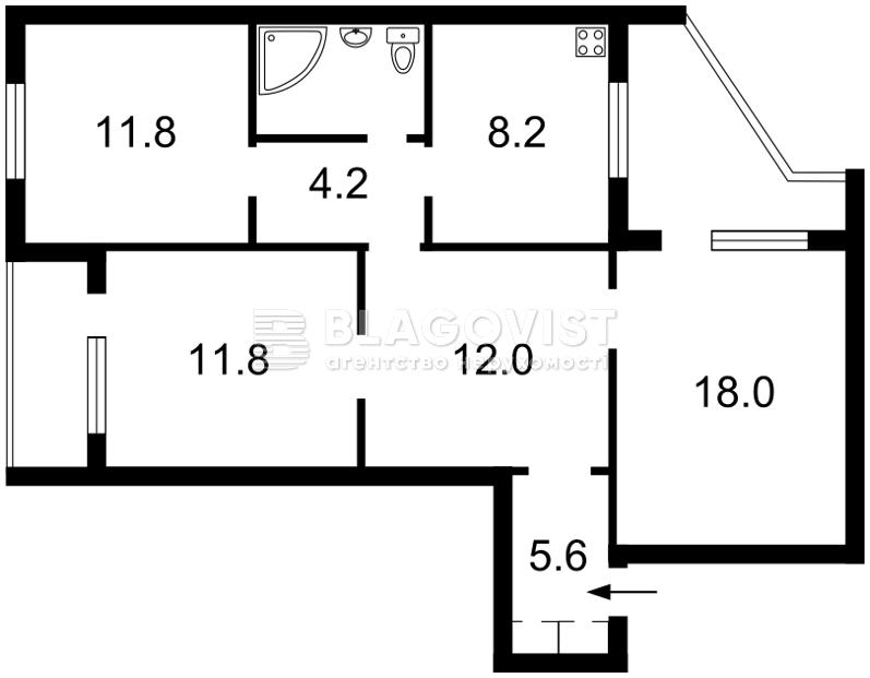 Квартира H-42060, Драгоманова, 23, Киев - Фото 5