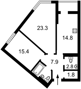 Квартира Саперное Поле, 12, Киев, H-42028 - Фото2