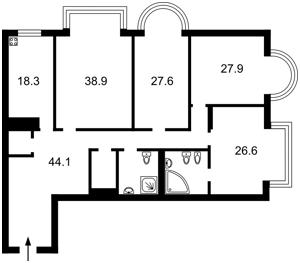 Квартира Інститутська, 18а, Київ, M-33467 - Фото2
