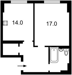 Квартира Эрнста, 16б, Киев, F-39592 - Фото2