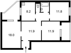 Квартира Ахматовой, 8, Киев, F-39795 - Фото2