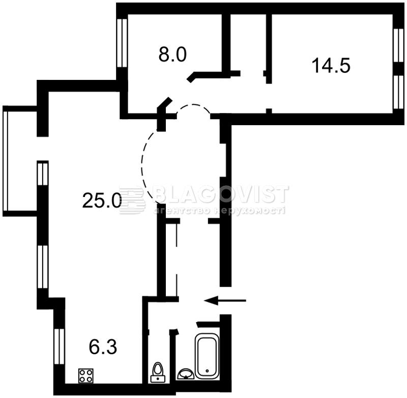 Квартира A-58735, М.Житомирська, 16/3, Київ - Фото 6