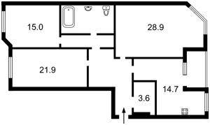 Квартира Мишуги О., 2, Київ, R-18517 - Фото2