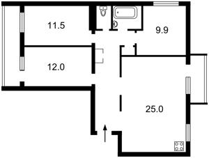 Квартира Голосіївський проспект (40-річчя Жовтня просп.), 25, Київ, A-108991 - Фото 2