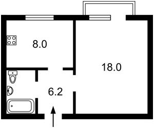 Квартира Еленовская, 34а, Киев, Z-1362943 - Фото2
