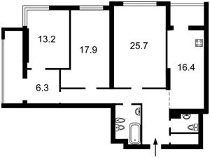 Квартира Лобановського просп. (Червонозоряний просп.), 4г, Київ, Z-346545 - Фото2