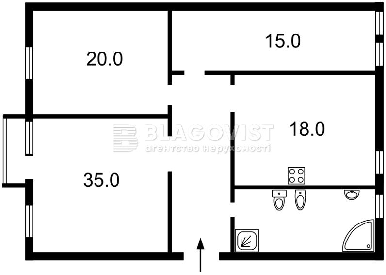 Квартира E-37562, Антонова Авіаконструктора, 2/32 корпус 1, Київ - Фото 4