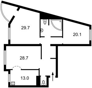 Квартира Голосіївський проспект (40-річчя Жовтня просп.), 68, Київ, Z-1572235 - Фото2