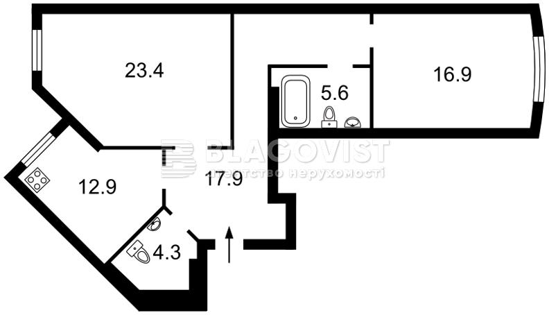 Квартира R-18397, Вышгородская, 45б/1, Киев - Фото 4