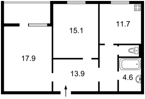 Квартира Эрнста, 12, Киев, A-109078 - Фото2