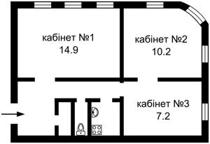 Нежилое помещение, Малая Житомирская, Киев, A-109065 - Фото 1