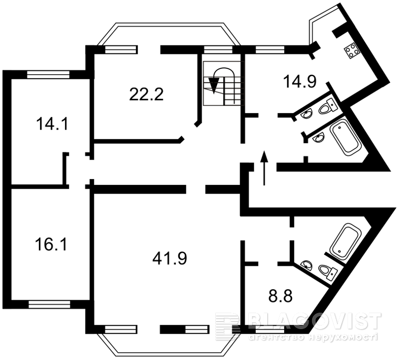 Квартира D-34151, Бальзака Оноре де, 4а, Киев - Фото 6