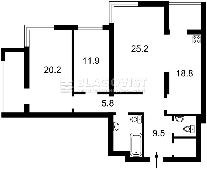 Квартира R-19007, Лобановского просп. (Краснозвездный просп.), 4б, Киев - Фото 4