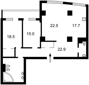 Квартира Оболонская набережная, 1 корпус 1, Киев, Z-328422 - Фото2