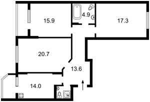 Apartment Hmyri Borysa, 8б, Kyiv, R-18537 - Photo2