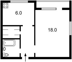 Квартира Бойчука Михайла (Кіквідзе), 4, Київ, Z-1367749 - Фото2