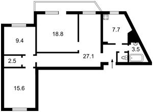 Квартира Бальзака Оноре де, 4, Киев, Z-347987 - Фото2