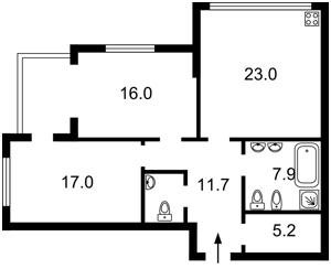 Квартира Трускавецкая, 4б, Киев, D-34183 - Фото2