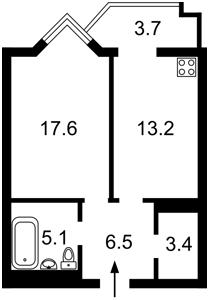 Квартира Саперне поле, 14/55, Київ, Z-668944 - Фото2