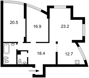Квартира E-20384, Героев Сталинграда просп., 2г корпус 2, Киев - Фото 7